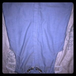 J crew diamond collar sleeveless button shirt